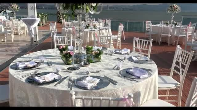 Decorated Wedding Tables: Stock Video