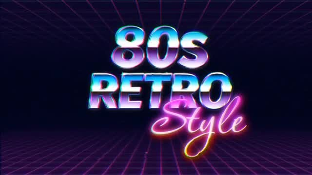 Retro Wave Logo Reveal: After Effects Templates