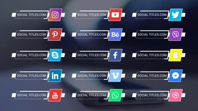 Social Media Titles 4K: Premiere Pro Templates
