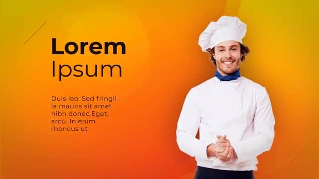 Restaurant Menu - Chef Slideshow: After Effects Templates