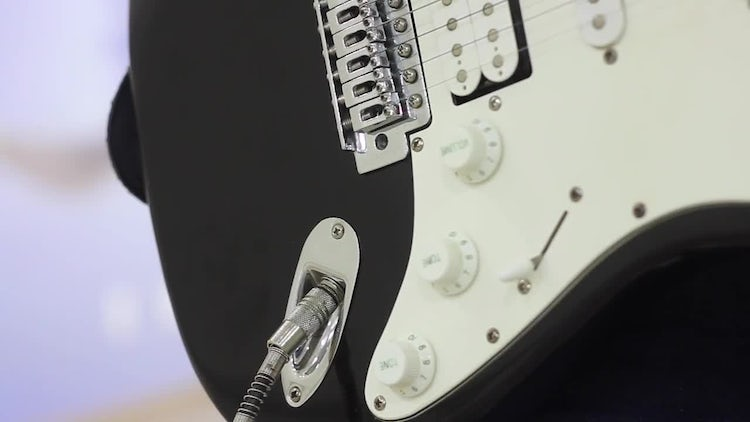 Close-Up Of A Guitar: Stock Video