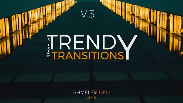 Trendy Transitions Presets V.3: After Effects Presets