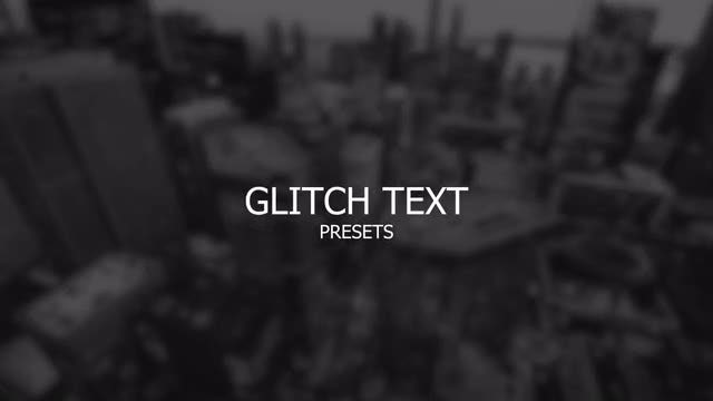 Glitch Text: After Effects Presets