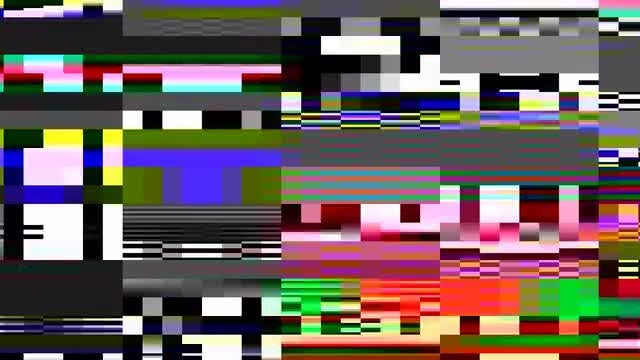 Glitching Old TV Screen 4K: Stock Motion Graphics