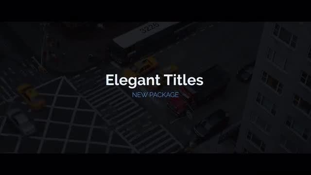 Elegant Titles: Motion Graphics Templates