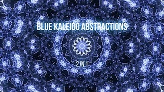 Blue Kaleidoscope Abstractions: Stock Motion Graphics