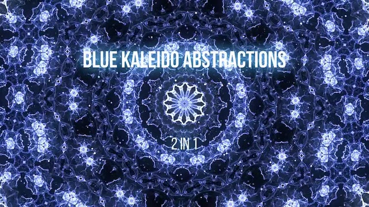 Blue Kaleidoscope Abstractions: Motion Graphics