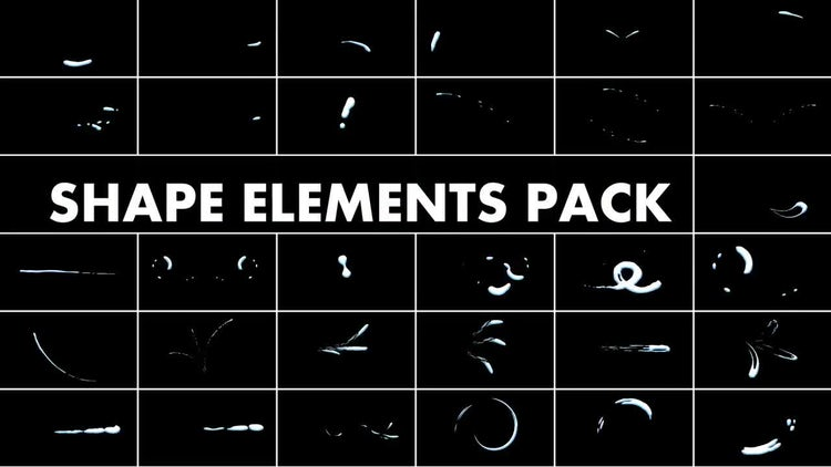 Shape Elements Pack: Stock Motion Graphics