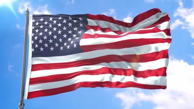 United States Flag Animation: Stock Motion Graphics
