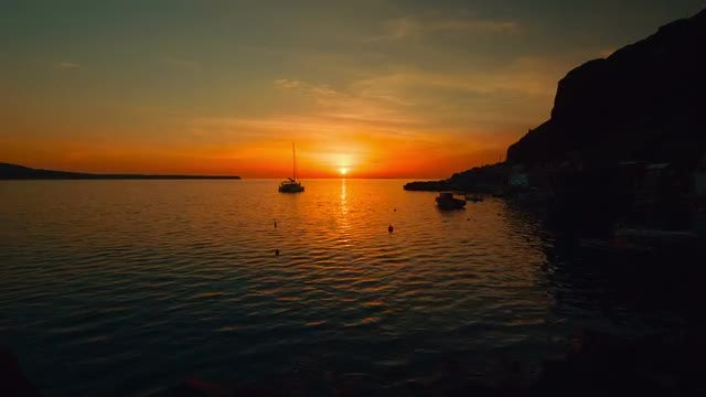 Sunset In The Mediterranean: Stock Video