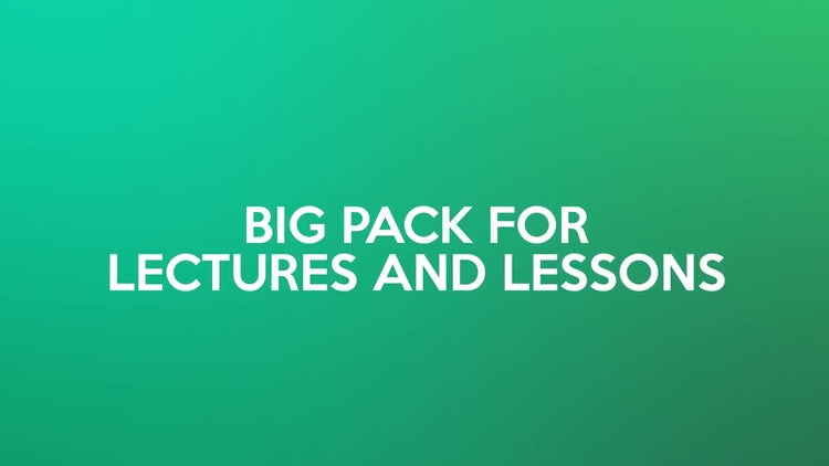 E-Learning Constructor: After Effects Templates