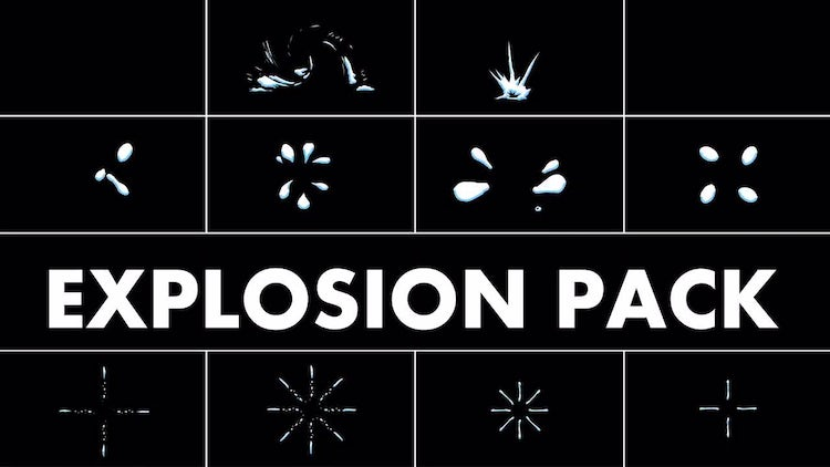Explosion Elements Pack: Stock Motion Graphics