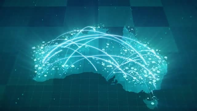 Globalization Australia Map: Stock Motion Graphics
