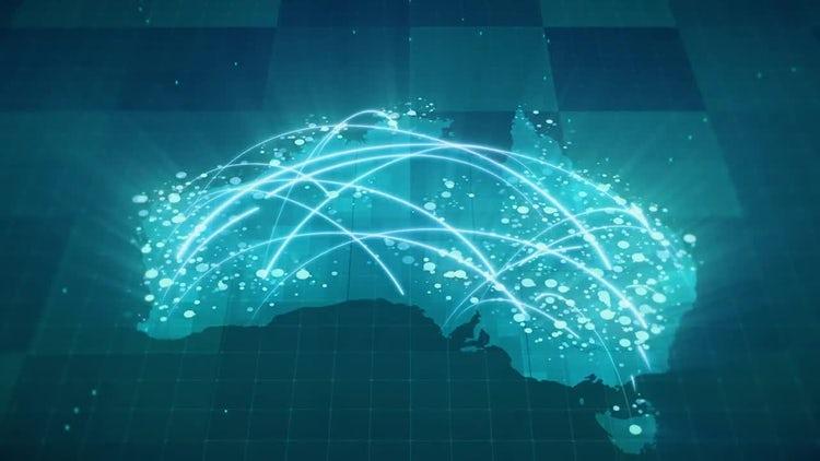 Globalization Australia Map: Motion Graphics