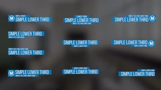 Simple Lower Thirds: Premiere Pro Templates
