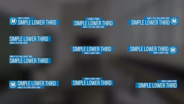 Simple Lower Thirds: Premiere Pro Templates