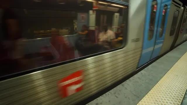 Metro Train Arriving: Stock Video