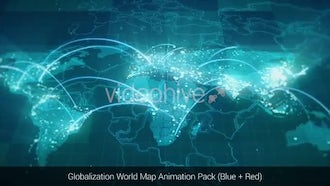 Globalization World Map Animations: Motion Graphics