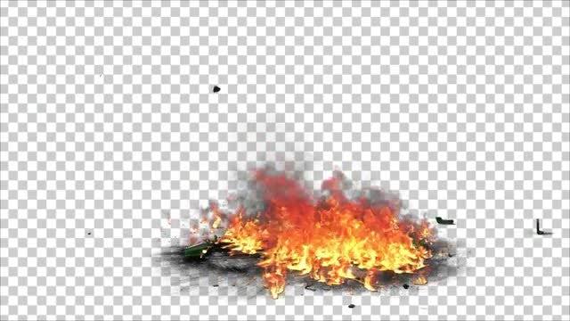 Molotov Cocktail Burning: Stock Motion Graphics