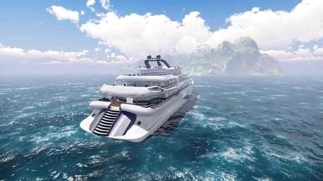 Modern Yacht: Stock Motion Graphics