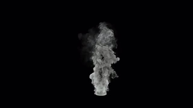 Thick Stream Of Smoke Rising: Stock Motion Graphics