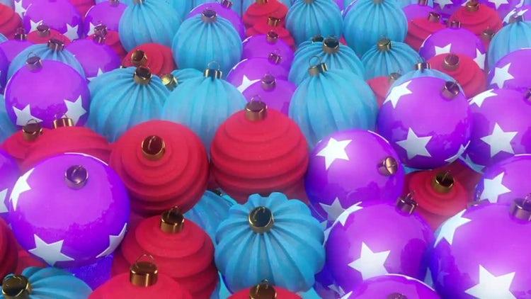 Christmas Balls Loop: Stock Motion Graphics