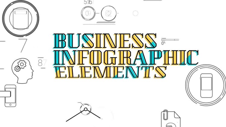 30 Line Infographic Elements: After Effects Templates