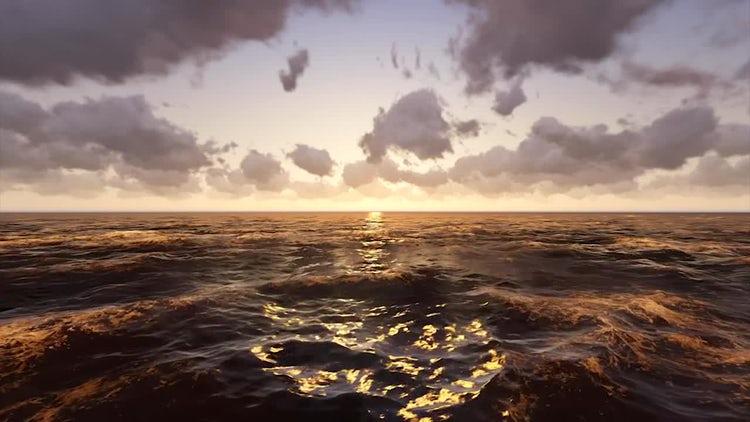 Ocean Sunrise: Stock Motion Graphics