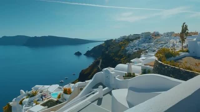 Beautiful Santorini Island: Stock Video