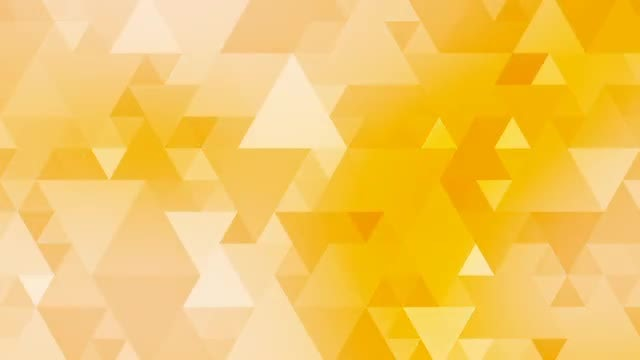 Yellow Triangles Mosaic Light Background: Stock Motion Graphics