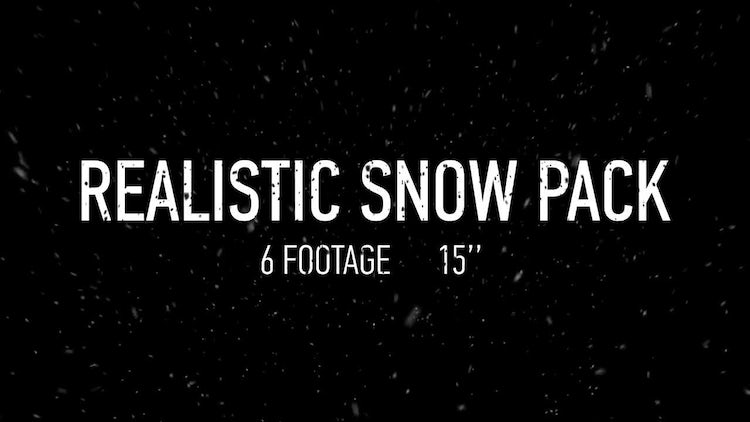 Realistic Snow Pack: Motion Graphics