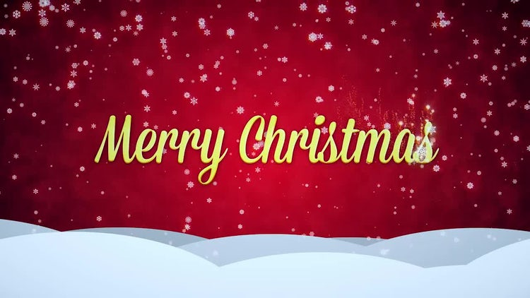 Snowy Red Merry Christmas: Stock Motion Graphics