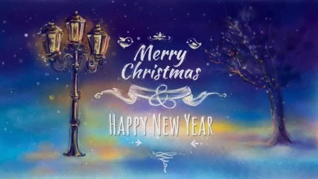 Christmas Greeting Card: Stock Motion Graphics