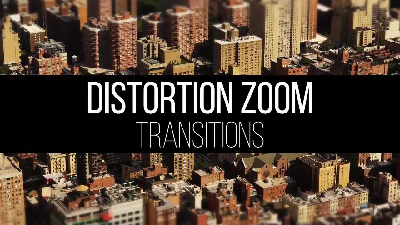 Distortion Zoom Transitions - Premiere Pro Templates