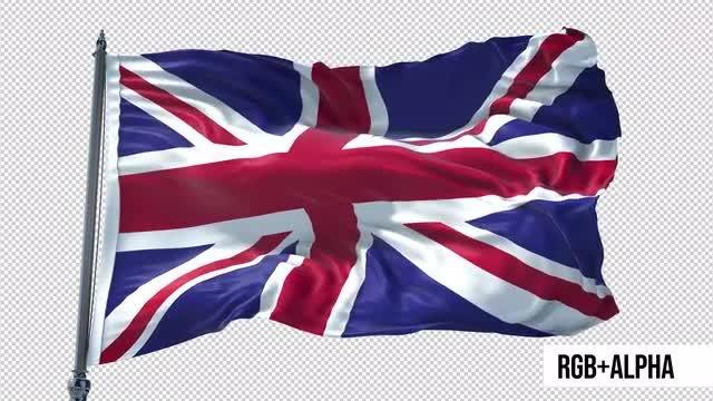 United Kingdom Flag Animation: Stock Motion Graphics