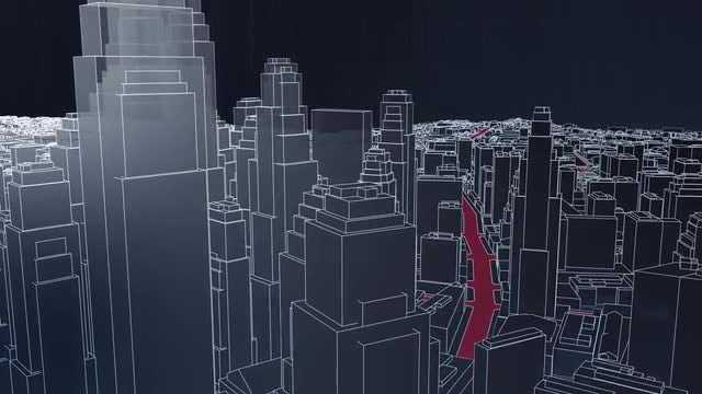 Skyscraper City Animation: Stock Motion Graphics