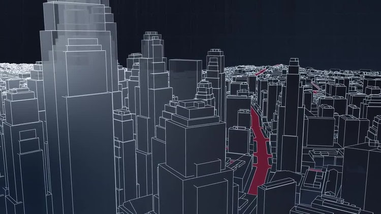 Skyscraper City Animation: Motion Graphics
