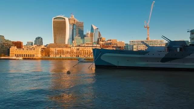 The HMS Belfast: Stock Video