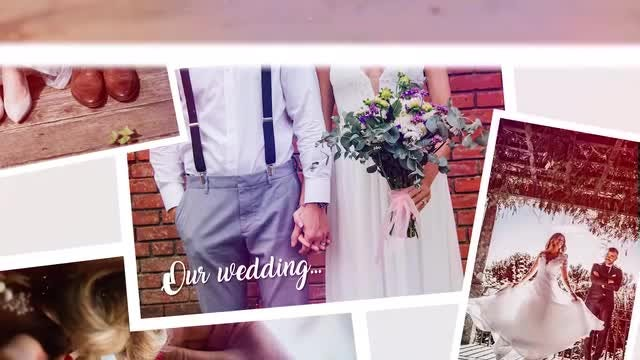 Multiframe Wedding Slideshow: Premiere Pro Templates
