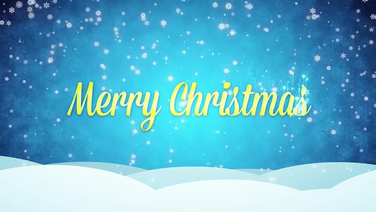Snowy Blue Merry Christmas: Motion Graphics