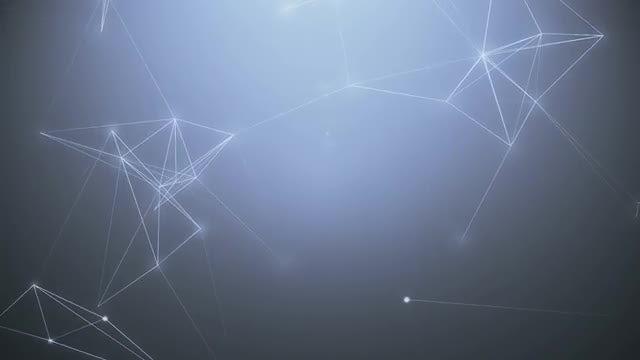 Elegant Light Blue Plexus Animation: Stock Motion Graphics