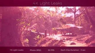 4K Light Leaks: Motion Graphics
