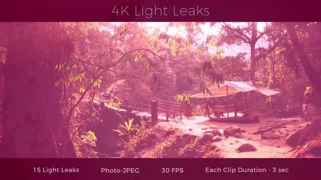 4K Light Leaks: Stock Motion Graphics