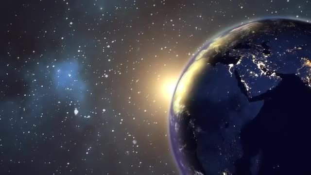 Sunrise Space View: Stock Motion Graphics