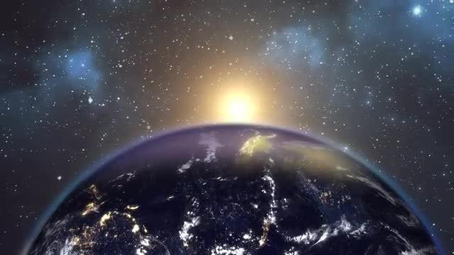 Sun Peeking In Space: Stock Motion Graphics