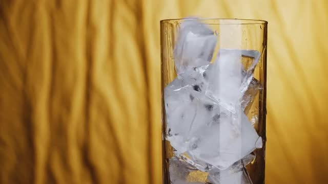 Ice Cubes In A Glass: Stock Video