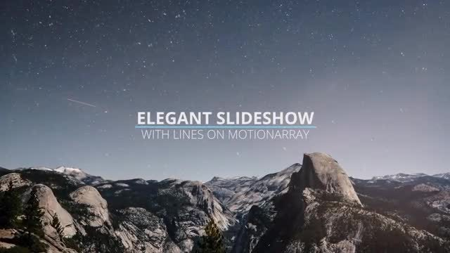 Elegant Slideshow With Lines: Premiere Pro Templates