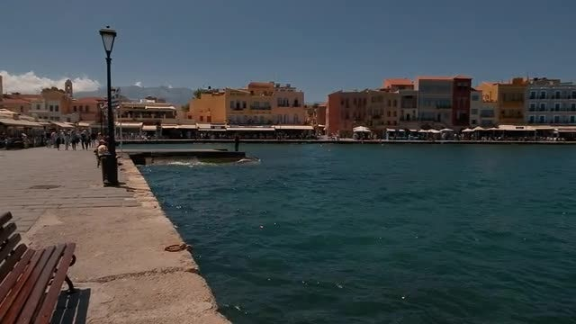 Old Town Promenade: Stock Video
