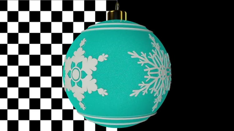 Spinning Christmas Balls Pack : Motion Graphics