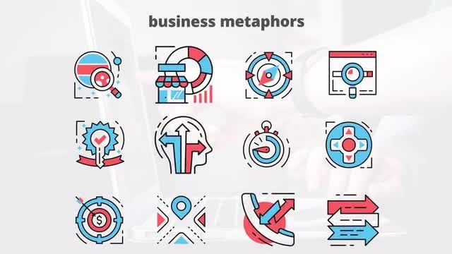 Business Metaphors – Flat Animation Icons: After Effects Templates
